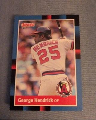 George Hendrick Baseball Card