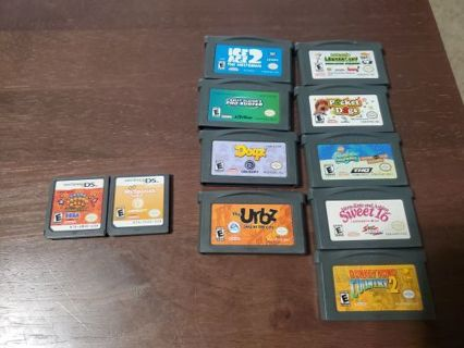 11 game Nintendo DS and Gameboy Advance lot