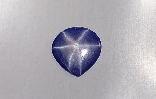 RARE PEAR SHAPE BLUE STAR SAPPHIRE NATURAL SIX POINT 9X9 MM ROUND 1.01 CARATS TAKE A LOOK WOW!