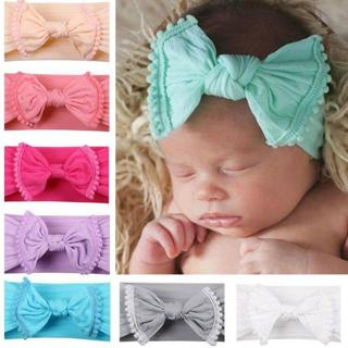 Baby Girls Kids Toddler Bow Knot Hairband Headband Stretch Cloth Head Wrap Wide