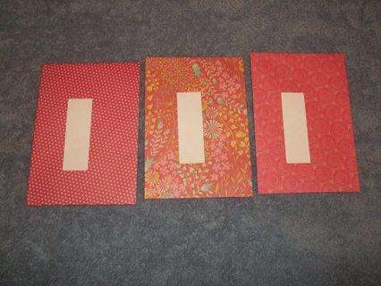 3 Size A8 Decorative Envelopes (number 7)