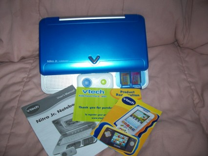 Free Vtech Nitro Jr Notebook Laptop Nearly New Other