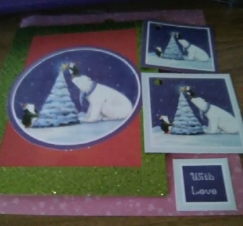 """"""" Getting Ready For Christmas"""" New Design Blank Card with Envelope"""