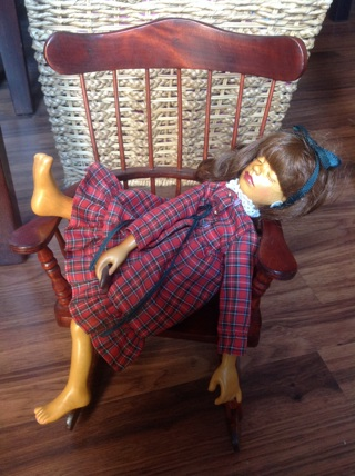 "1991 WAITING FOR SANTA 12"" wood doll PATRICIA RYAN BROOKS"