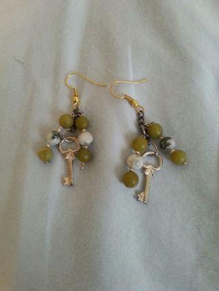 Jade key earrings!