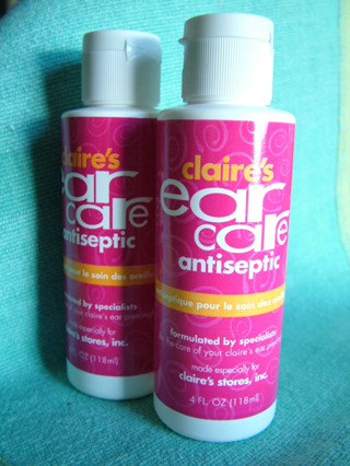 Free 2 Bottles New Claire S Ear Care Antiseptic For Piercings