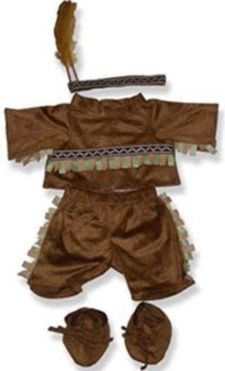 """*NEW* - Dress Your Animal for the Holidays - BOY & GIRL INDIAN 15"""" to 18"""" Stuffed Bear or Animal"""