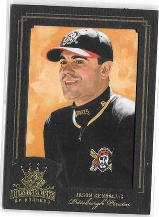 2003 Diamond Kings Gold Foil #131 Jason Kendall Serial #d 043/100