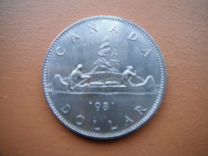 1981 CANADA $1 NICKEL DOLLAR- Circulated
