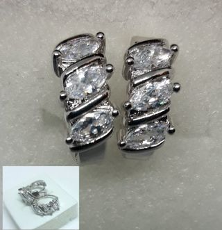 Beautiful Small Hoop Earrings with Crystals