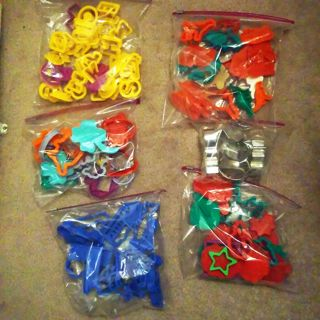 big cookie cutters or play doe shape cutters lot Animals Holidays Text Cars Trains Sports
