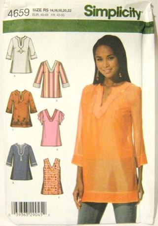 Free: ***Women\'s Plus-Size Tunic Sewing Pattern*** Sizes 14-22 ...