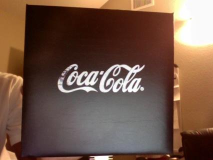 RARE, NEW - Vintage Leather Coca Cola Game Box w/ Games