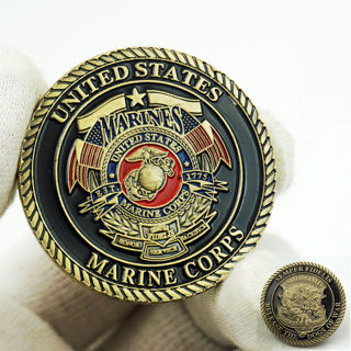 United States Marine Corps Commemorative Challenge Coin Collectible