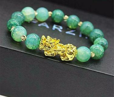 Feng Shui Black Obsidian Pi Xiu Bracelet Attract Wealth Good Luck Jewelry Unisex