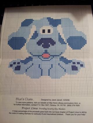 Free Blues Clues Pattern Crochet Listia Auctions For Free Stuff