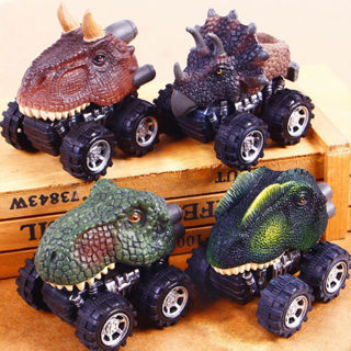 New Dinosaur Model Car Toys Pull Back Car Kids Children Cool Boys Gifts For Baby