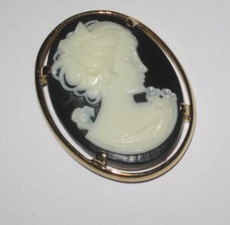 vintage napier cameo pin