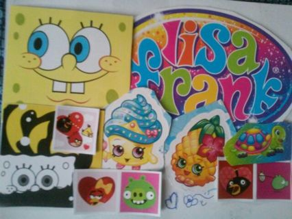 Over 35pc. -MYSTERY- Stickers! #123