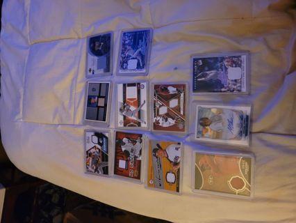 11 card mlb baseball jersey/auto lot.