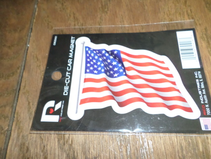 Die-Cut CAR MAGNET -American Flag