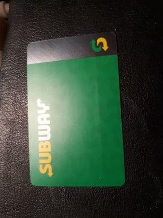 25 dollar subway card