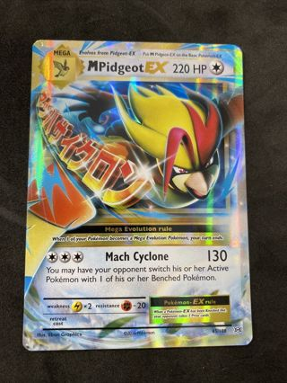 Mega M Pidgeot EX 65/108 Evolutions Ultra Rare Holo Pokemon NM
