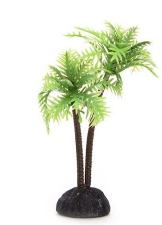 Simulation Resin Coconut Tree Castle Aquariums Fish Tank Ornaments Decoration