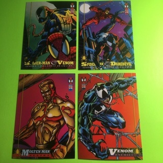 4 Spider-man 1994 Marvel Cards!