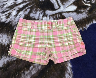 Tracy Evans WOMEN'S SHORT SHORTS PLAID PINK SIZE 9 FREE SHIPPING