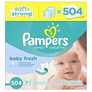 PAMPERS BABY WIPES NEW 7 PACK REFILL 504 TOTAL