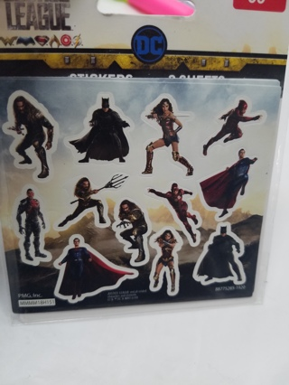 New In Pack! 3 Sheets of JUSTICE LEAGUE Stickers