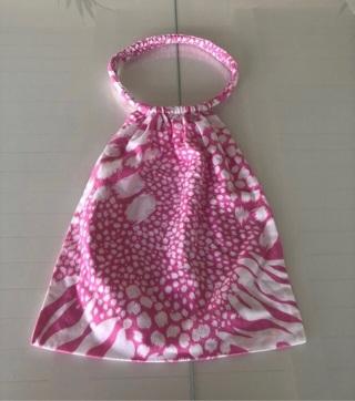 Rare Victoria's Secret Round Handle Cotton Bag • Pink & White • Excellent Condition • Free Shipping