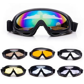 Winter Snow Sports Skiing Snowboard Snowmobile Anti-fog Goggles Windproof Dustproof Glasses