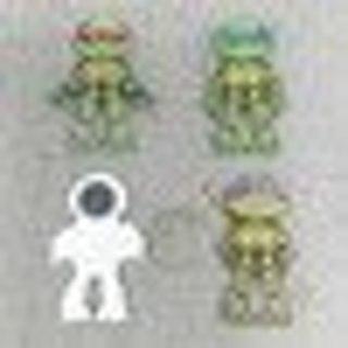 4pcs The sewer Turtles Anime action figure fridge magnets