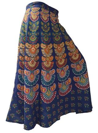Free Indian Ethnic Vintage Cotton Wrap Around Maxi Indian