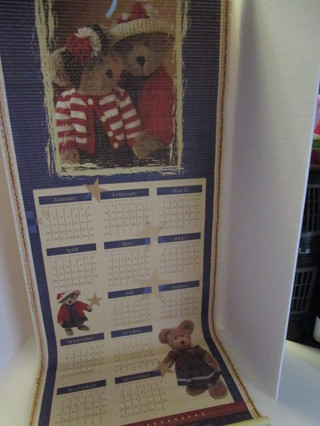 Double Sided Hanging Boyds Bear Calendar
