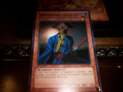 new yu-gi-oh swordsman from a distant land card