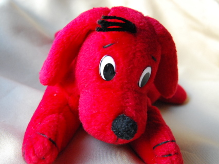 Free Small Clifford The Big Red Dog Stuffed Animal Beanie Toy