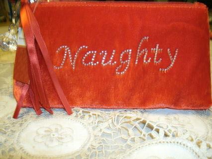 Red Velvet Naughty or Nice Makeup Bag