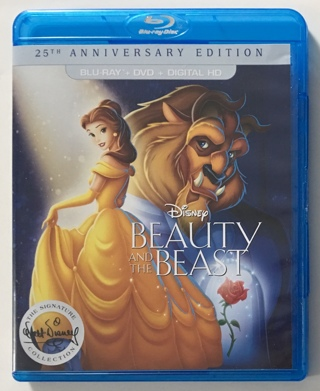 Disney Beauty and the Beast 2-Disc 25th Anniversary Edition Blu-ray / DVD Combo Movie - Mint Discs