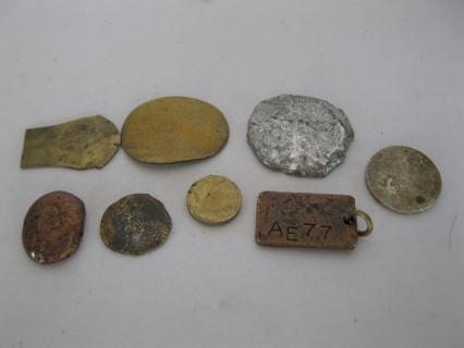 2oz lot of semi-precious Metal Ingots & Findings