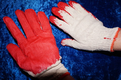 1 PAIR NEW ALL PURPOSE GLOVES  WITH RUBBERIZED NON  SLIP GRIP / GIN GETS 3 PAIR
