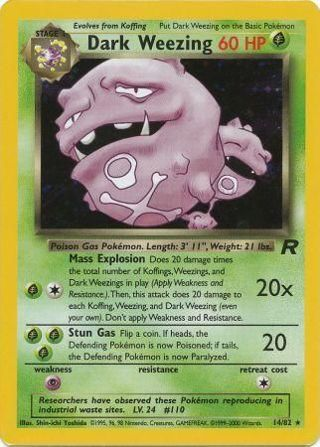 Dark Weezing - 14/82 - Holo Unlimited Team Rocket Unlimited Singles