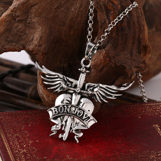 Bon Jovi Rock Band Necklaces & Pendants Charms Men Women Silver Plated Fans Gift