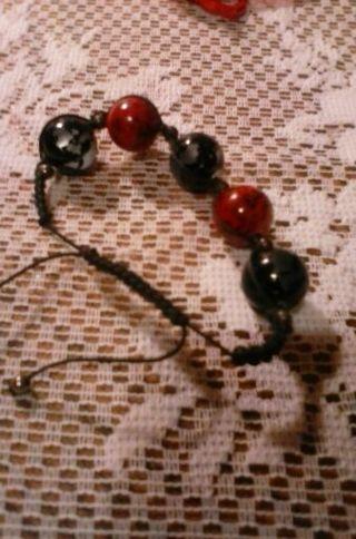 Homemade beaded adjustable bracelet
