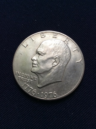 1776-1976 bicentennial Eisenhower IKE Dollar from Philly Mint