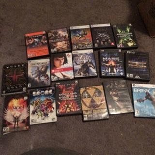 Big lot of computer games