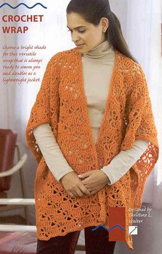 Free Crochet Patternce Ruana Crochet Wrapeasy Crochet