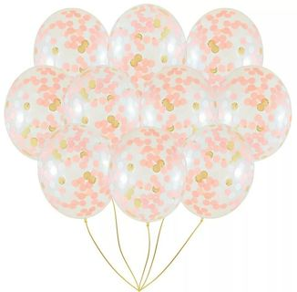 free 10pcs gold confetti balloons 12 inches party balloons with